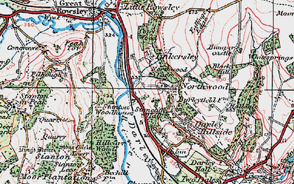 Old map of Northwood in 1923