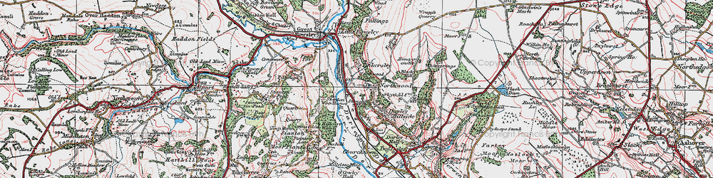 Old map of Tinkersley in 1923