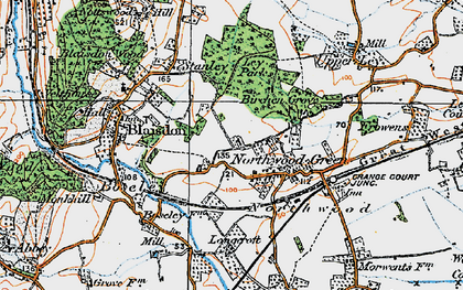 Old map of Ley Park in 1919