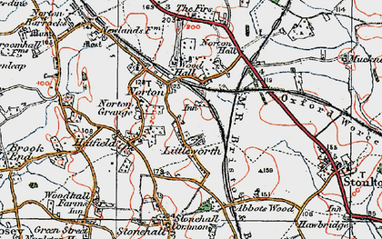 Old map of Norton in 1920