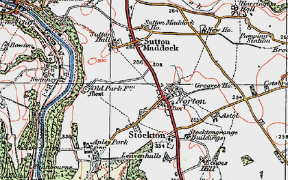 Old map of Astol in 1921