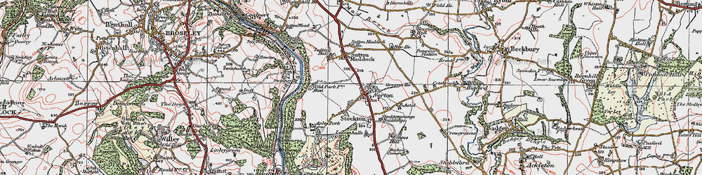 Old map of Norton in 1921