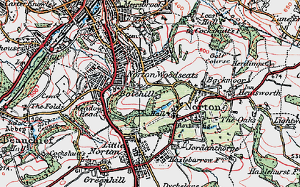Old map of Norton in 1923