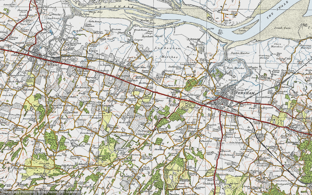 Old Map of Norton Ash, 1921 in 1921