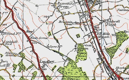 Old map of Norton Green in 1920