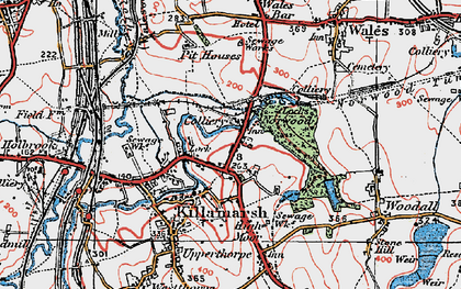 Old map of Norwood in 1923
