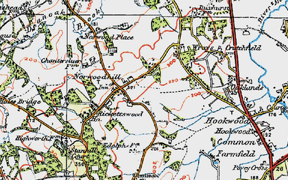 Old map of Wrays in 1920