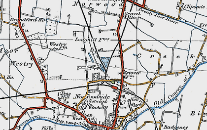 Old map of Norwoodside in 1922