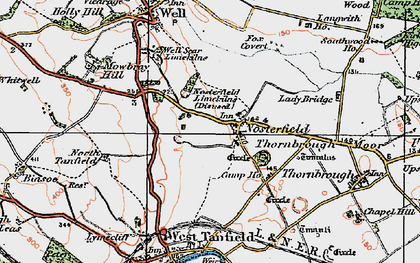 Old map of Langwith Ho in 1925