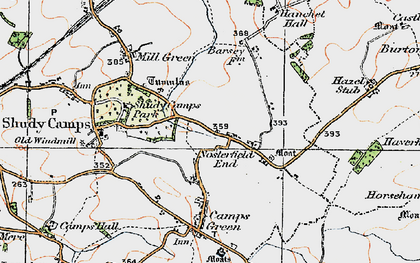 Old map of Nosterfield End in 1920