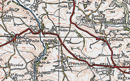 Old map of Notter in 1919