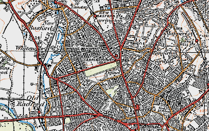 Old map of Nottingham in 1921
