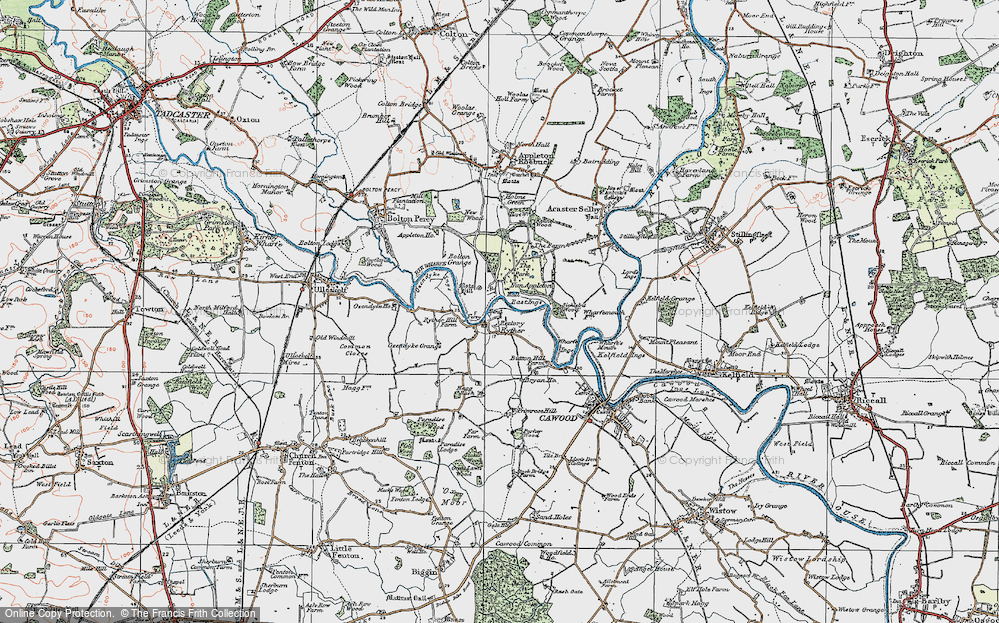 Old Map of Historic Map covering Woodbine Grange in 1924