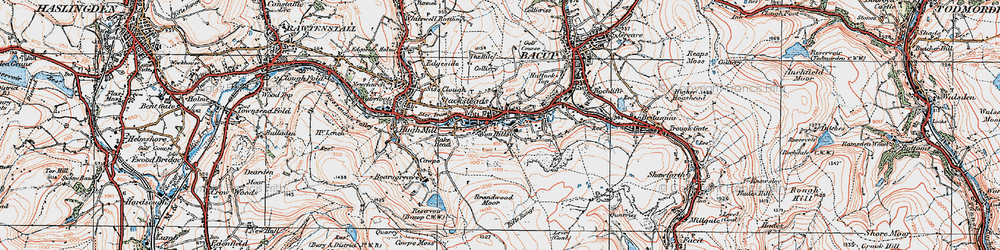 Old map of Rossendale Valley in 1924