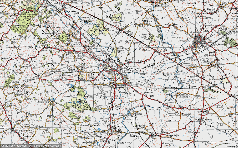 Map Of Nuneaton Map of Nuneaton, 1920   Francis Frith