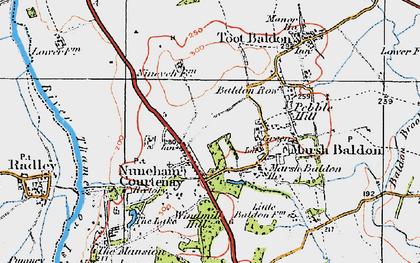 Old map of Nuneham Courtenay in 1919