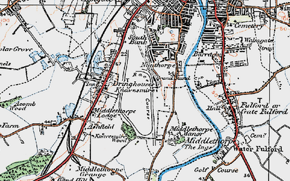 Old map of Nunthorpe in 1924