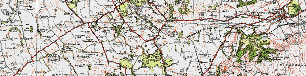 Old map of Nunthorpe in 1925