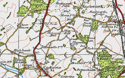 Old map of Nup End in 1920