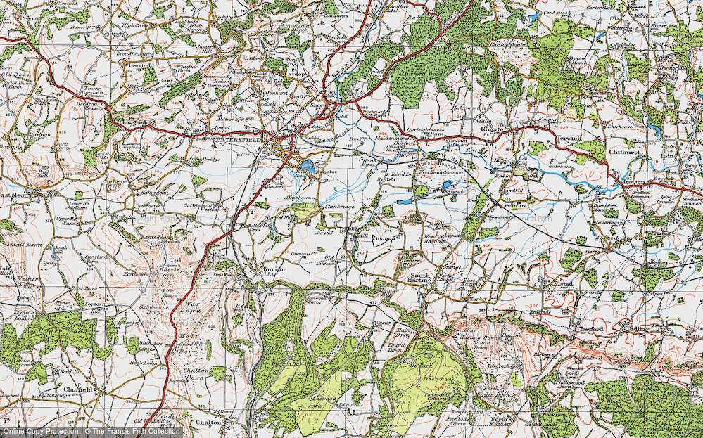 Old Map of Historic Map covering Leith Copse in 1919