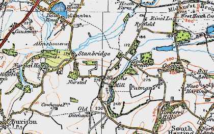 Old map of Westons in 1919