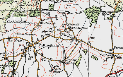 Old map of Worttesley Old Park in 1921