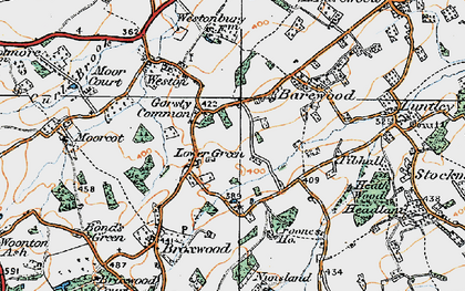Old map of Tibhall in 1920