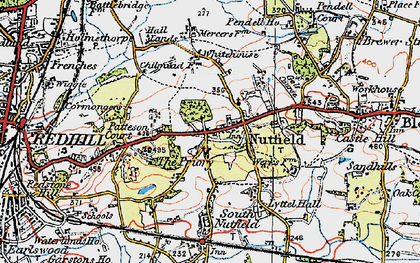 Old map of Nutfield in 1920