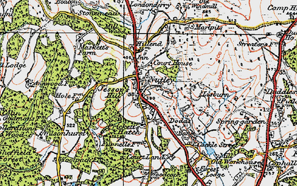 Old map of Nutley in 1920