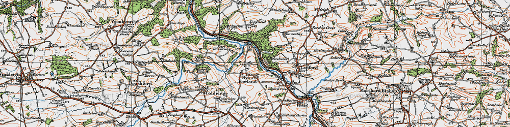 Old map of Toatley in 1919