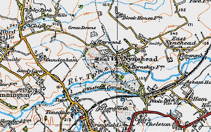 Old map of Nynehead in 1919