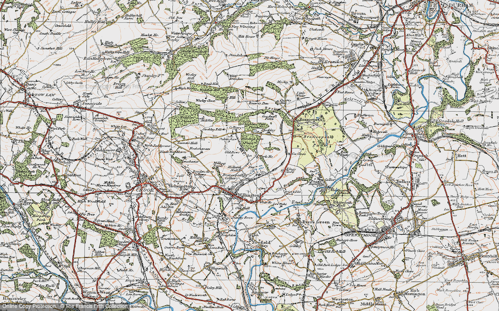 Old Map of Historic Map covering Lingey Close in 1925
