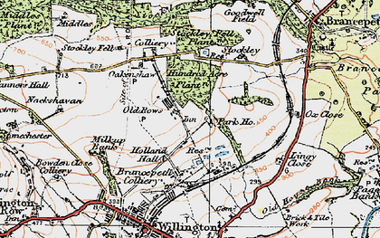 Old map of Oakenshaw in 1925