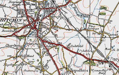 Old map of Oakfield in 1919