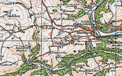 Old map of West Tapps in 1919