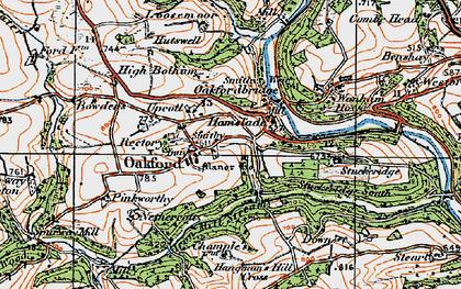 Old map of Wonham Ho in 1919