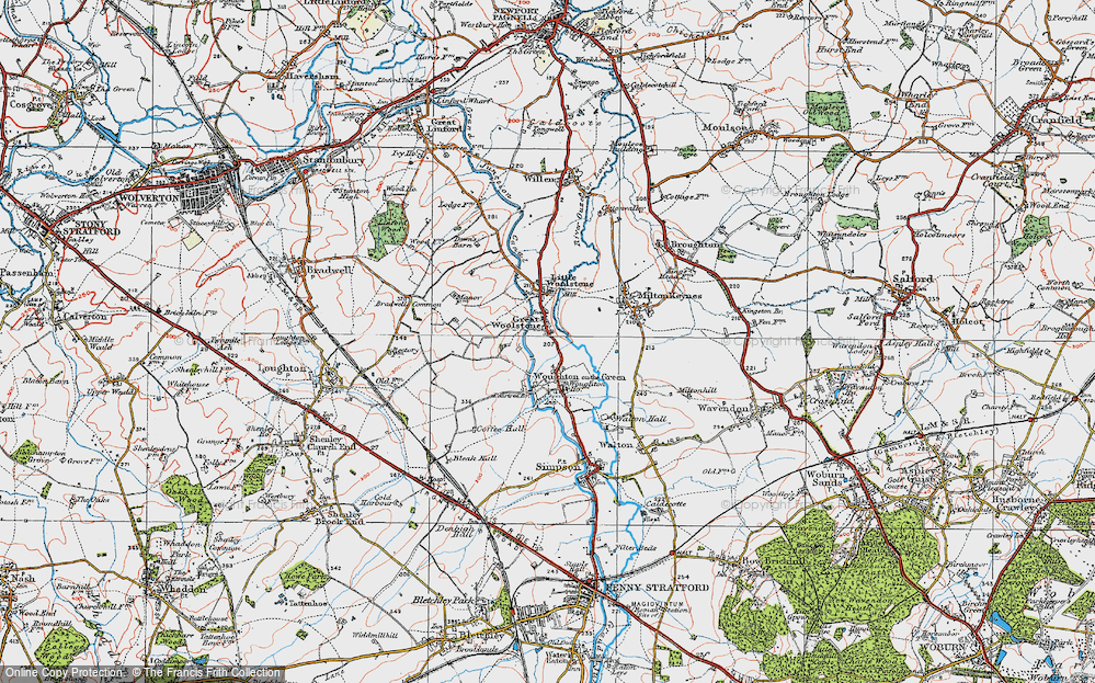 Old Map of Historic Map covering Newlands in 1919