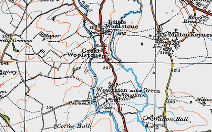 Old map of Newlands in 1919