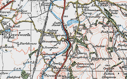 Old map of Oakgrove in 1923