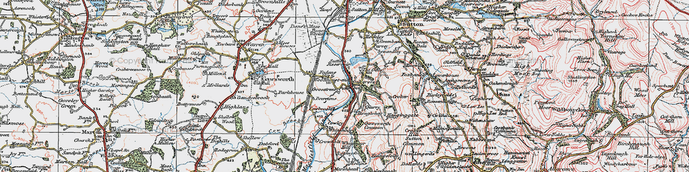 Old map of Whitemoor in 1923