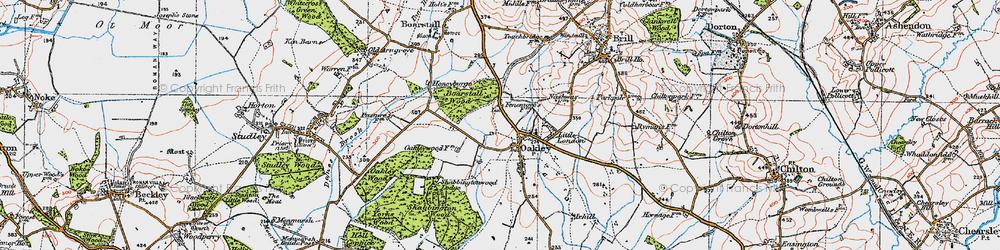 Old map of Oakley in 1919