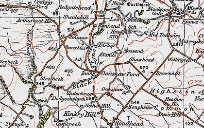Old map of Ash, The in 1925