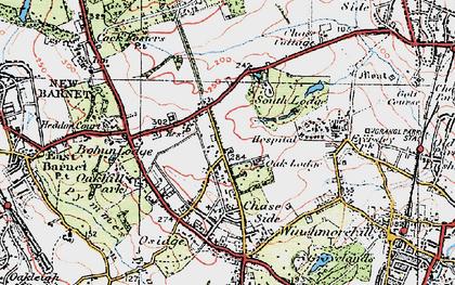Old map of Oakwood in 1920