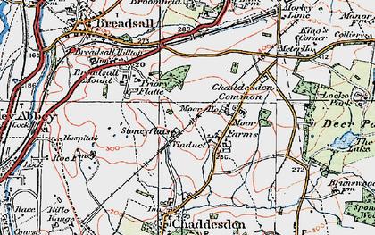 Old map of Oakwood in 1921