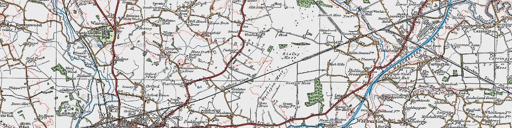 Old map of Oakwood in 1923