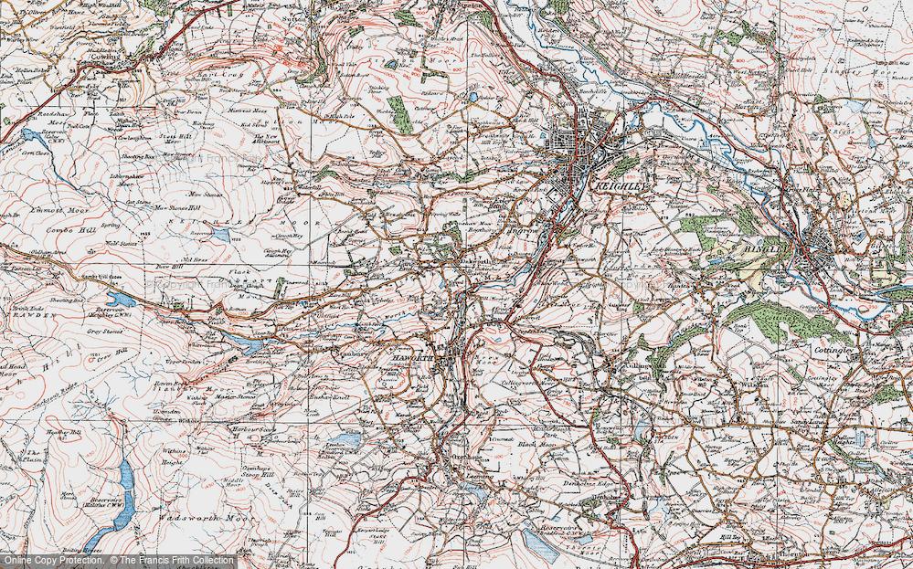 Old Map of Oakworth, 1925 in 1925