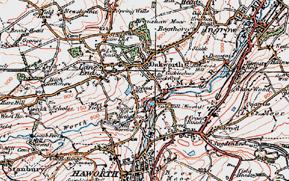 Old map of Oakworth in 1925