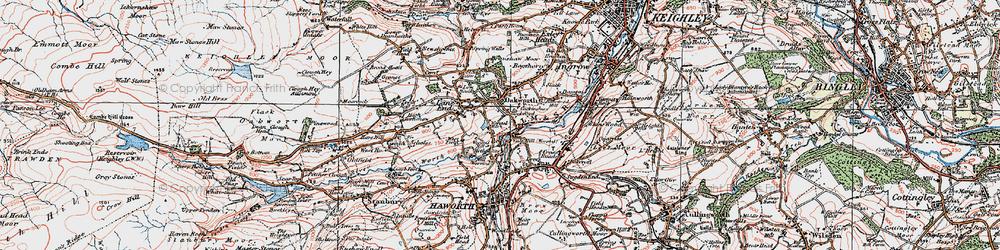 Old map of Oakworth in 1925