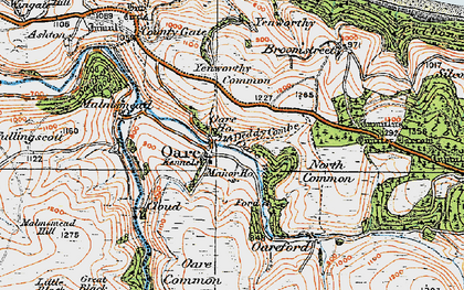 Old map of Yellow Stone in 1919