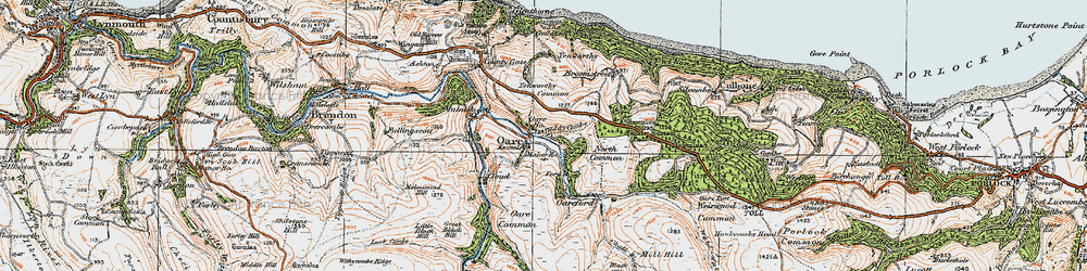 Old map of Yenworthy Common in 1919